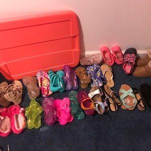 Toddler girl sandal bundle size 10